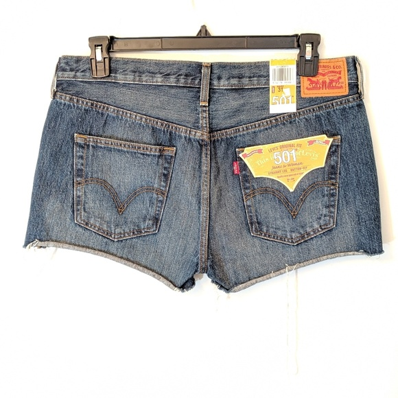 Levi's Pants - Levi's 501 Button Fly Mom Cutoff Shorts High Rise